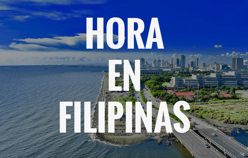 que hora es en Filipinas